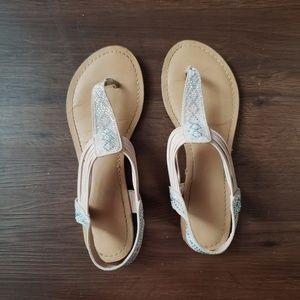 Iridescent/Taupe Sandles